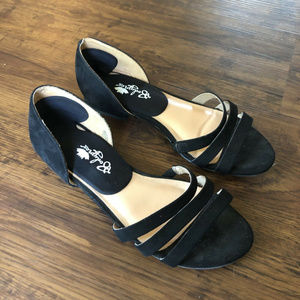 Target A New Day Vienna black strappy sandals